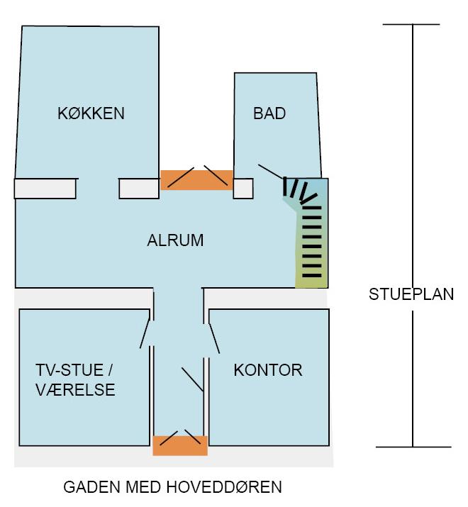 Plan over stueetagen