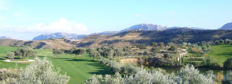 Udsigt over Antequera golfbane